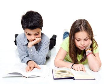 Children enjoy reading.